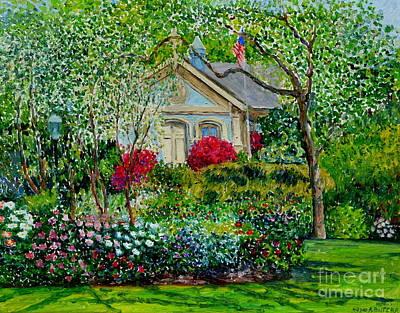 Botanical Garden, Azalea And Peonies Art Print