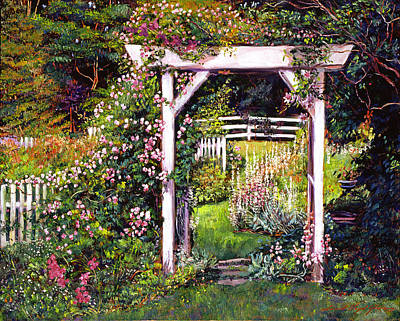 Pathways Painting - Botanical Paradise by David Lloyd Glover