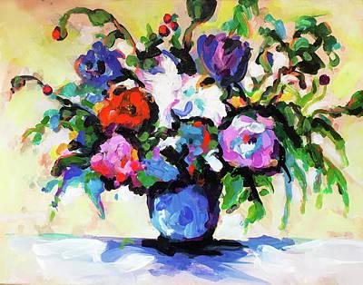 Wall Art - Painting - Botanical Still Life #1 by Charles Wallis