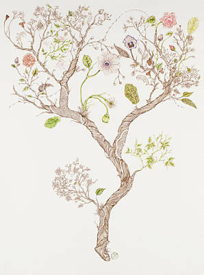 Mixed Media - Botanicalia Branches by Karen Robey