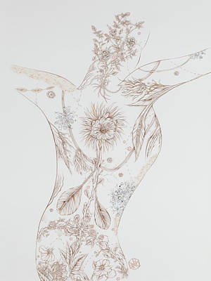 Drawing - Botanicalia Claire by Karen Robey