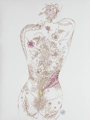 Drawing - Botanicalia Tristan by Karen Robey