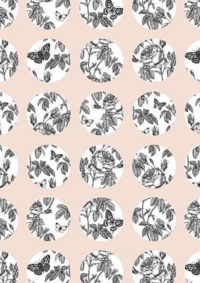 Pen Drawings Drawing - Botanist Circles by Stephanie Davies