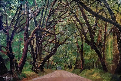 Painting - Botany Bay Road 2018 by Ron Richard Baviello