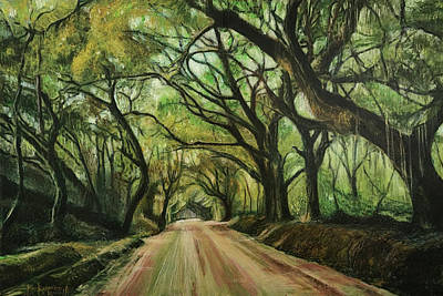 Painting - Botany Bay Road II by Ron Richard Baviello