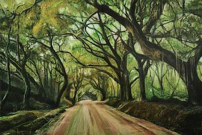 Painting - Botany Bay Road II by Ron Richard Baviello