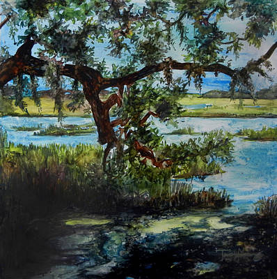 Painting - Botany Bay Summer Marsh by Trish McKinney