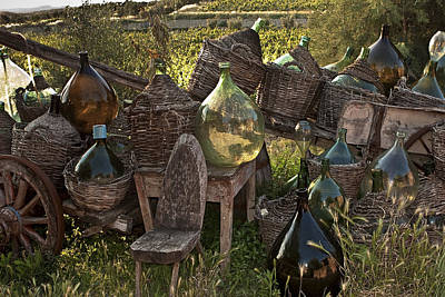 Wine Cart Photograph - Botega Del Trenta In Villa A Sesta Italy by Jon Cretarolo
