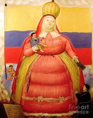 Botero Woman And Child Art Print