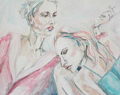 Conversation Mixed Media - Both Sides Now by Christel  Roelandt