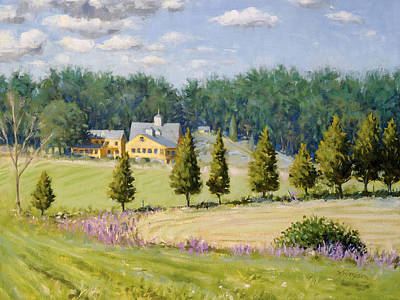 Hayfield Painting - Bothways Farm by Steven A Simpson
