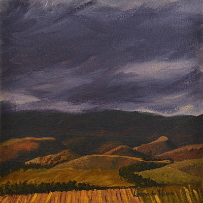 Painting - Botlierskop In The Distance by Leana De Villiers