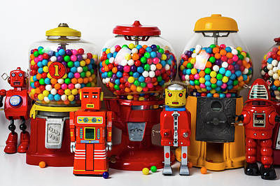 Photograph - Bots And Bubblegum Machines by Garry Gay