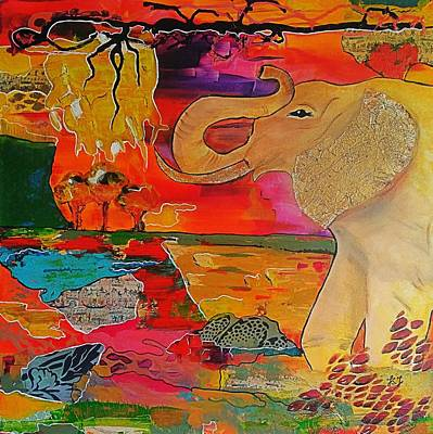 Tangerines Mixed Media - Botswana by Jan Steadman-Jackson