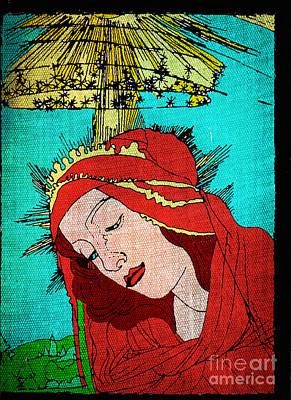 Jesus Face Digital Art - Botticelli Madonna Fabrique by Genevieve Esson
