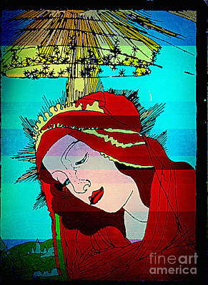 Digital Art - Botticelli Madonna Layered by Genevieve Esson