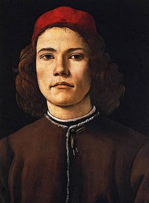 Digital Art - Botticelli Sandro Portrait Of A Young Man by Sandro Botticelli