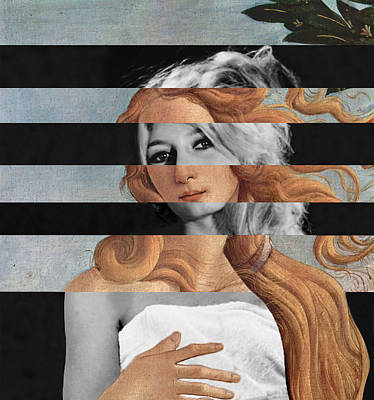 Digital Art - Botticelli's Venus And Brigitte Bardot by Luigi Tarini
