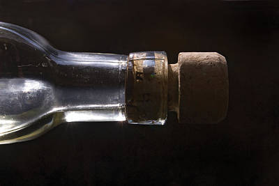 Glass Photograph - Bottle And Cork-1 by Steve Somerville