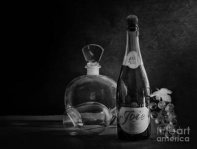 Photograph - Bottle Black And White by Charuhas Images