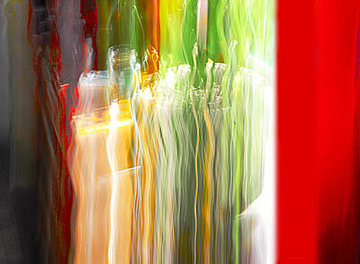 Art Print featuring the photograph Bottle By The Window by Susan Capuano