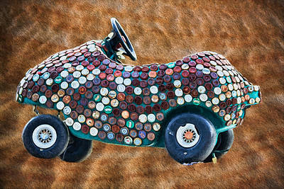 Digital Art - Bottle Cap Buggy by John Haldane