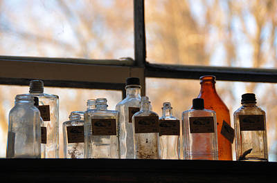 Photograph - Bottle Collection by Jan Amiss Photography