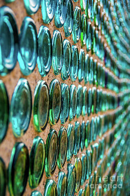 Photograph - Bottle House Wall by Stephen Whalen