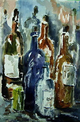 Bottle In A Dusty Cellar Art Print