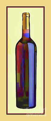 Bottle Of Red Art Print