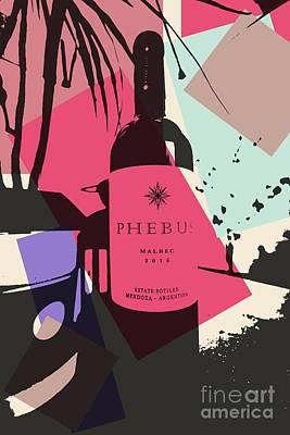Bottle Of Wine Art Print by RJ Aguilar