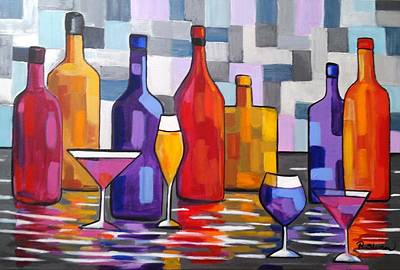 Painting - Bottle Of Wine by Rosie Sherman