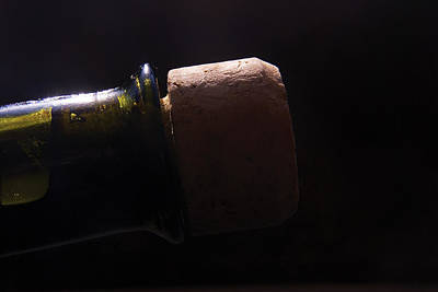 Bottle Photograph - bottle top and Cork by Steve Somerville