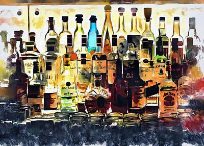 Digital Art - Bottle Zoo by Yury Malkov
