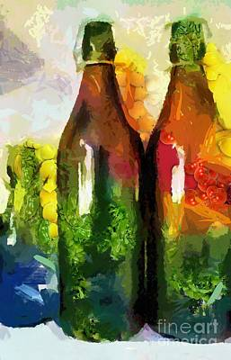 Digital Art - Bottled And Veggie-licous by Catherine Lott