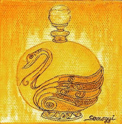 Bottled Gold Swan Art Print