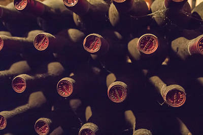 Vintage Wine Lovers Photograph - Bottled History by Georgia Fowler