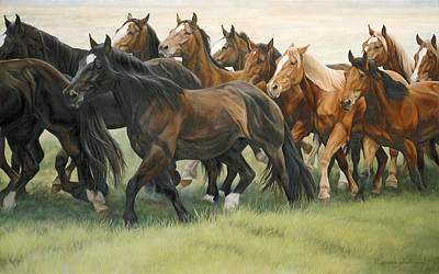 Horse Racing Painting - Bottleneck by JQ Licensing