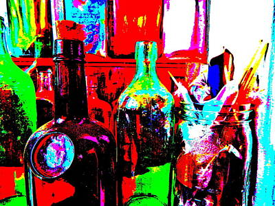 Photograph - Bottles 28 by George Ramos