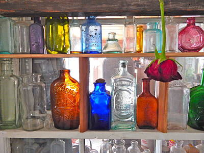 Photograph - Bottles 3 by George Ramos