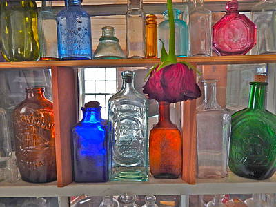 Photograph - Bottles 6 by George Ramos