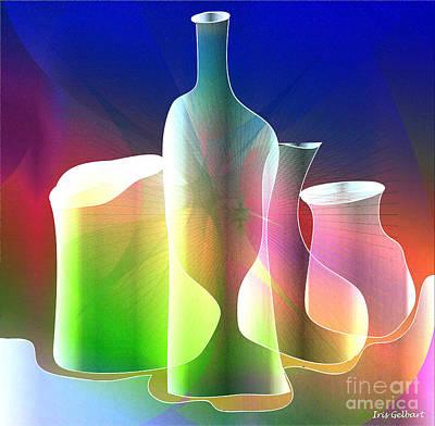 Digital Art - Bottles 6 by Iris Gelbart