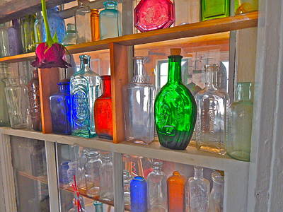 Photograph - Bottles 8 by George Ramos