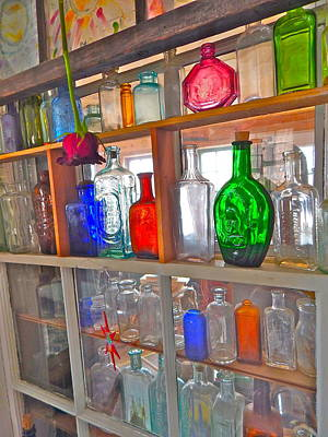 Photograph - Bottles 9 by George Ramos