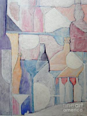 Bottles And Glasses Art Print by Ana Maria Edulescu