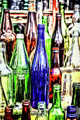 Photograph - Bottles At The Market by Karol Livote