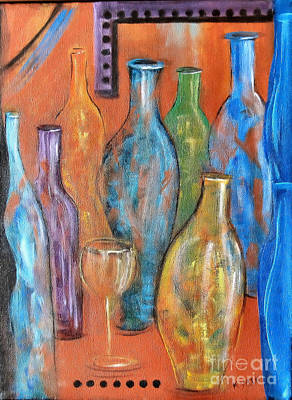 Painting - Bottles II by Karen Day-Vath