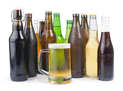 Photograph - Bottles Of Beer And Beer Mug.  by Deyan Georgiev