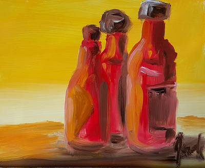 Painting - Bottles Of Hot Sauce by Steve Jorde
