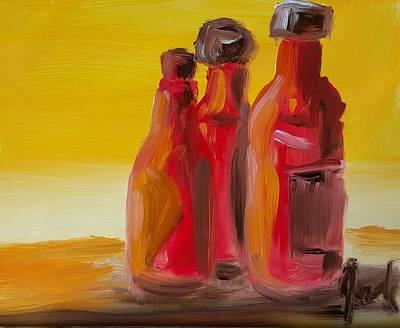 Painting - Bottles Of Hot Sauce by Steve Jorde
